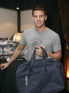 David Boreanaz nabs a Le Sport bag