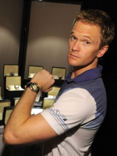 Neil Patrick Harris shows off his new Aquaswiss watch!