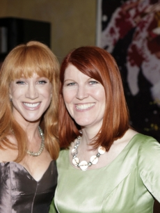 Kathy Griffin and Kate Flannery at the NBCU Pre-Emmy party at Spago