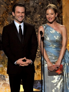 Christian Slater and Christina Applegate shine onstage during TV's biggest night