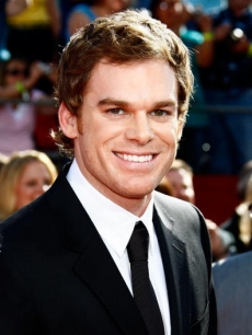 'Dexter's' Michael C. Hall arrives at the 60th Emmy Awards