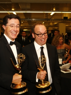 Emmy winners Stephen Colbert and Paul Giamatti