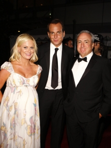 Amy Poehler, Will Arnett and Lorne Michaels at the Emmys