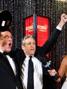 Stephen Colbert Jon Stewart Nancy O&#8217;Dell Emmys