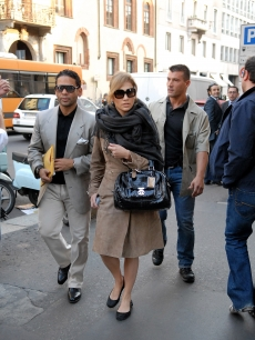 J. Lo steps out in Milan, Italy
