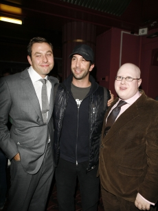 David Walliams, David Schwimmer and Matt Lucas at a 'Little Britain' afterparty, '06
