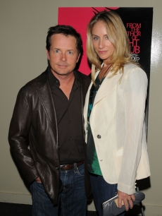 Michael J. Fox and his wife Tracy Pollan at the 'Choke' premiere, NYC