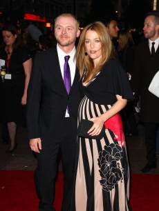 Simon Pegg and Gillian Anderson attend 'How To Lose  Friends And Alienate People'