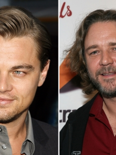 Leonardo DiCaprio and Russell Crowe