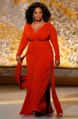 Oprah Winfrey takes the 2008 Emmy stage
