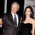 Clint Eastwood and Angelina Jolie attends the premiere of 'Changeling' during the 46th New York Film Festival