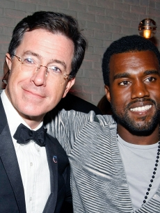 Kanye and Stephen Colbert, together at last