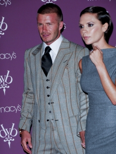 David and Victoria Beckham attend the launch of the Beckham Signature fragrance collection