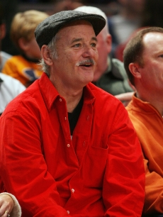 Bill Murray catches the Bulls-Knicks game