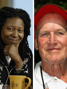 Whoopi Goldberg and Paul Newman
