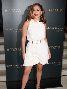 Jennifer Lopez attends the launch of her fragrance Deseo For Men at Macy's at Herald Square