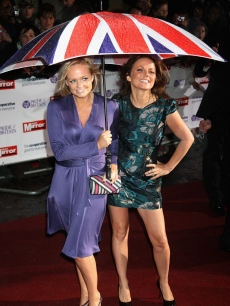 Emma Bunton and Geri Halliwell arrive at the Pride of Britain Awards, September 30, 2008