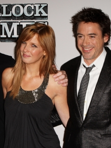 Guy Ritchie, Kelly Reilly, Robert Downey Jr. and Rachel McAdams at 'Sherlock Holmes' press conference in London