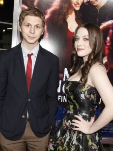 Michael Cera and Kat Dennings arrive to attend the premiere of 'Nick and Norah's Infinite Playlist' at the ArcLight Hollywood