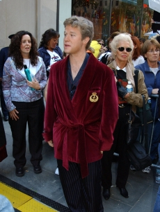 Access' Billy Bush dresses up as Hugh Hefner for Halloween 2003