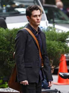 Penn Badgely steps out in NYC on October 3, 2008