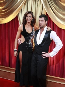 Misty May-Treanor and Maksim Chmerkovskiy pose during week 1 of 'Dancing'