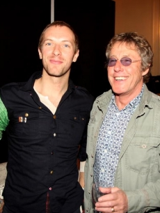 Coldplay's Chris Martin and Roger Daltry at the Q Awards, London, Oct. '08