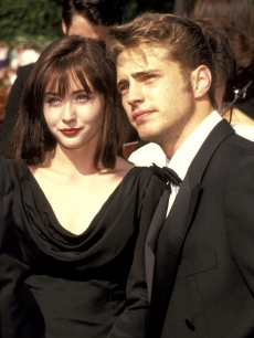 Shannen Doherty and Jason Priestley in 1991