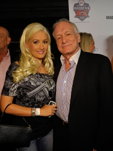 Playmate Holly Madison and Hugh Hefner hit the red carpet, Aug. 2008
