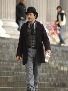Robert Downey Jr. on location at St Paul's Cathedral for 'Sherlock Holmes,' London