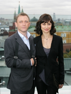 Daniel Craig and actress Olga Korylenko in Moscow for the new James Bond film &#8216;Quanturm Of Solace&#8217;