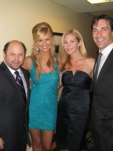 Jason Alexander joins Nancy backstage, along with Jon Hamm and wife Jennifer Westfeldt