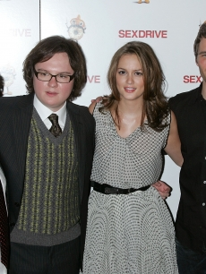 Seth Green, Clark Duke, Leighton Meester and James Marsden at the 'Sex Drive' premiere