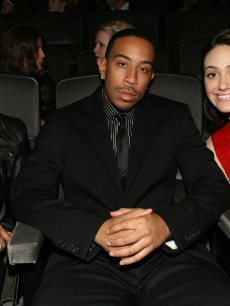 Eve, Chris Ludacris Bridges and Emmy Rossum pose in Hollywood