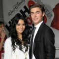 Vanessa Hudgens and Zac Efron arrive at the premiere of Disney's 'High School Musical 3: Senior Year' held at the Galen Center