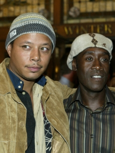 Terrence Howard and Don Cheadle (Sept. 2004)