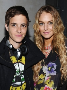 Lindsay Lohan and Samantha Ronson at Saks' 'Key To The Cure' Launch Party