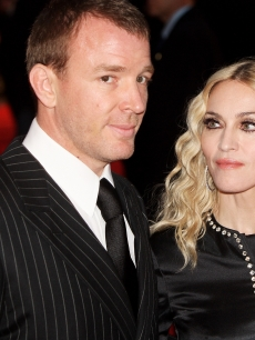 Guy Ritchie and Madonna arrive at the world premiere of 'RocknRolla' at the Odeon cinema, Leicester Square on in London, England