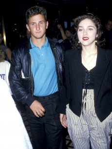 Sean Penn and Madonna at the Trump Plaza in Atlantic City, New Jersey