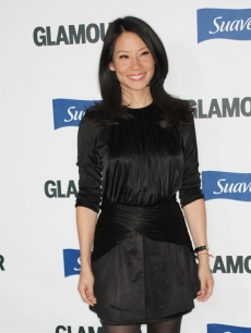Lucy Liu arrives at the Glamour Reel Moments event in LA
