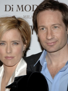 David Duchovny and Tea Leoni in happier times