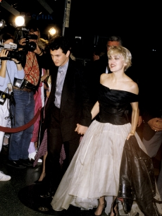 Madonna and Sean Penn attend the 'At Close Range' premiere, April 1986