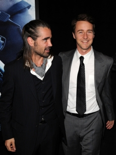 Colin Farrell and Ed Norton at the NYC premiere of 'Pride and Glory'