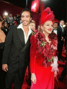 Carlos Leon and Madonna at the 1996 premiere of &#8216;Evita&#8217; in LA 