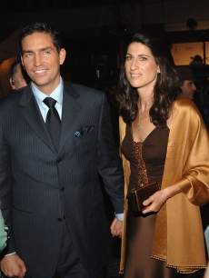 Actor Jim Caviezel and his wife Kerri Caviezel attend the Touchstone Pictures world premiere of 'Deja Vu' at the Ziegfeld Theatre November 20, 2006 in New York City.