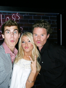 'Dancing' partners Cody Linley and Julianne Hough join Billy Bush at the 'High School Musical 3' premiere