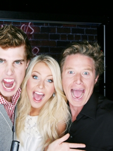 Cody Linley, Julianne Hough and Billy Bush rock out at the premiere of 'High School Musical 3' in LA