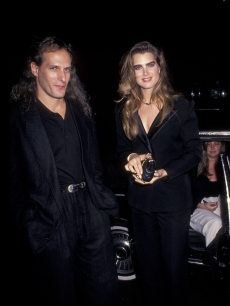 Michael Bolton and Brooke Shields at a Grammy party in 1991