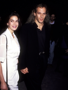 Michael Bolton and Teri Hatcher step out for 'The Player' premiere, LA, 1992