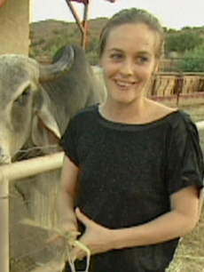 Alicia Silverstone at Animal Acres
